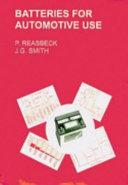 Batteries For Automotive Use Book PDF