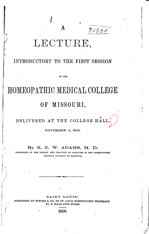 Pamphlets - homoeopathic