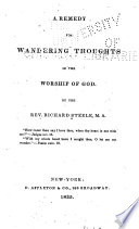 A Remedy for Wandering Thoughts in the Worship of God Book