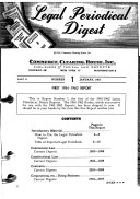 Legal Periodical Digest of Current Articles Involving Research in All Law Periodicals Published in the English Language