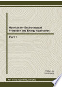 Materials for Environmental Protection and Energy Application