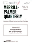 Merrill Palmer Quarterly Book
