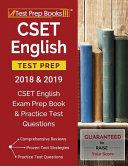 Cset English Test Prep 2018   2019
