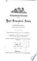 Transactions of the Royal Geographical Society of Australasia  Victorian Branch