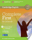 Complete First For Schools Student S Book With Answers With Cd Rom