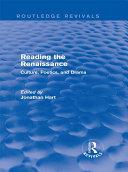 Pdf Reading the Renaissance (Routledge Revivals) Telecharger