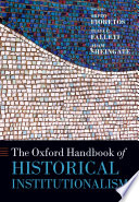 The Oxford Handbook of Historical Institutionalism Book