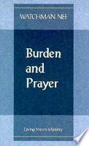 Burden And Prayer