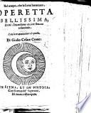 Nel tempo che la luna burataua, operetta bellissima doue s'intendono alcune stantie ridicolose, con la tramutatione di quelle