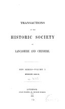 Transactions of the Historic Society of Lancashire and Cheshire for the Year