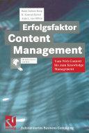 Erfolgsfaktor Content Management