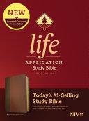 NIV Life Application Study Bible  Third Edition  Leatherlike  Brown Tan