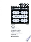 History Of The 1992 Economic Census