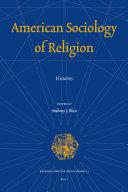 American Sociology of Religion