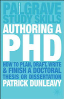 Authoring a Ph D
