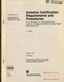 Avionics Certification Requirements and Procedures