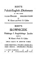 Burt s Polish English Dictionary