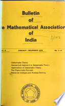 Bulletin of the Mathematical Association of India