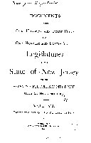 Documents of the Legislature of the State of New Jersey