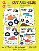 Kindergarten Workbook  Cut and Glue   Monster Trucks