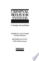 Criminal Behavior Systems