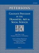 Graduate Programs in the Humanities, Arts & Social Sciences 2008