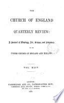 The Church of England quarterly review
