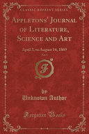 Appletons Journal Of Literature Science And Art Vol 1