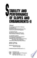 Stability and Performance of Slopes and Embankments II