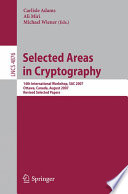 Selected Areas in Cryptography