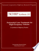 Preferential Lane Treatments for High occupancy Vehicles