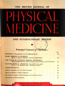 British Journal of Physical Medicine and International Review
