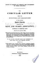 Hints To Parents On Seeking The Conversion Of Their Children The Circular Letter From The Ministers And Messengers Of The Several Baptist Churches Composing The Kent And Sussex Association Assembled At Sheerness Kent June The 1st And 2d 1830 Etc By William Garner