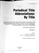 Periodical title abbreviations