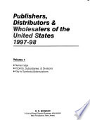 Publishers, Distributors & Wholesalers of the United States, 1997-1998