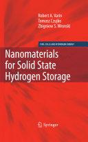 Nanomaterials for Solid State Hydrogen Storage Book