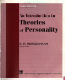 An Introduction to Theories of Personality Book