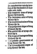 The Vnion of the Two Noble and Illustre Famelies of Lancastre and Yorke (etc.)