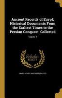 ANCIENT RECORDS OF EGYPT HISTO