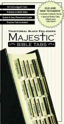 Majestic Traditional Black Foil Edged Bible Tabs