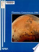 Planetary Geosciences  1988 Book