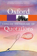 Pdf Concise Oxford Dictionary of Quotations