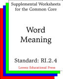 CCSS RI.2.4 Word Meaning