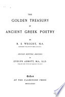 The golden treasury of ancient Greek poetry...