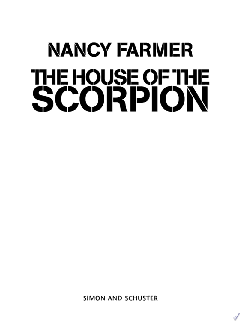 The House of the Scorpion banner backdrop