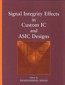 Signal Integrity Effects In Custom Ic And Asic Designs Book PDF