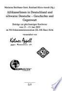 AfrikanerInnen in Deutschland und schwarze Deutsche