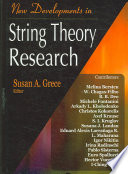 New Developments in String Theory Research