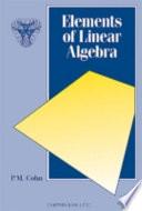 Elements of Linear Algebra