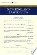 New England Law Review  Volume 49  Number 4   Summer 2015